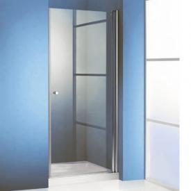 Hüppe 501 Design pure 4-Eck Schwingtür ESG klar mit ANTI-PLAQUE / silber matt