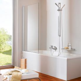 Hüppe 501 Design pure Badewannenabtrennung 1teilig ESG klar / silber matt