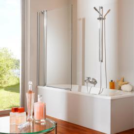 Hüppe 501 Design pure Badewannenabtrennung 2-teilig ESG klar / silber matt