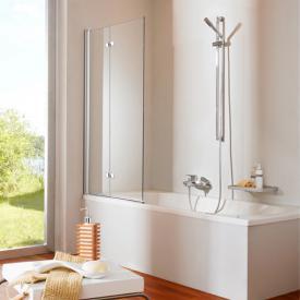 Hüppe 501 Design pure Badewannenabtrennung ESG klar / silber matt