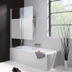 HÜPPE 501 Design pure Badewannenabtrennung Schwingfalttür ESG privatima mit ANTI-PLAQUE / silber hochglanz
