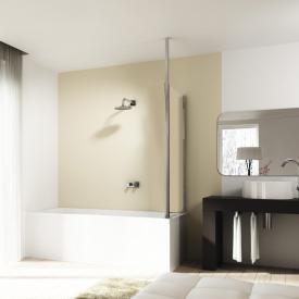 HÜPPE 501 Design pure Badewannenabtrennung Seitenwand ESG klar / chrom