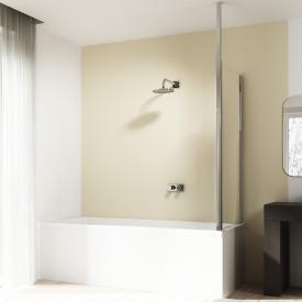 HÜPPE 501 Design pure Badewannenabtrennung Seitenwand ESG klar / silber hochglanz