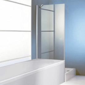 Hüppe 501 Design pure 4-Eck Seitenwand für Pendeltür ESG privatima mit ANTI-PLAQUE / silber matt