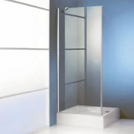 Hüppe 501 Design pure 4-Eck Seitenwand für Pendeltür ESG klar mit ANTI-PLAQUE / chrom