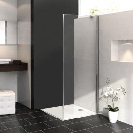 Hüppe Aura elegance 4-Eck Seitenwand ESG klar mit ANTI-PLAQUE / silber matt