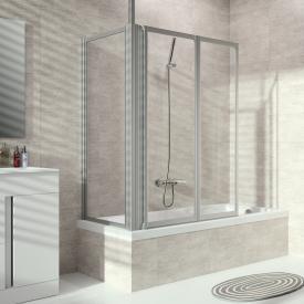 Hüppe Combinett 2 Badewannenabtrennung Seitenwand ESG klar mit ANTI-PLAQUE / silber matt