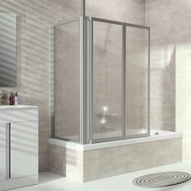 Hüppe Combinett 2 Badewannenabtrennung Seitenwand Kunstglas pacific S klar / silber matt