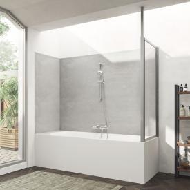 HÜPPE Combinett 2 Seitenwand für Badewannenabtrennung ESG klar mit ANTI-PLAQUE / silber matt