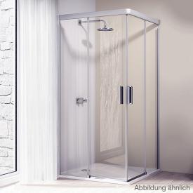 Hüppe Design elegance 4-Eck Gleittüreckeinstieg ESG privatima ANTI-PLAQUE / silber matt