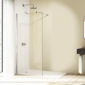 Hüppe Design elegance 4-Eck Seitenwand alleinstehend ESG sand plus mit ANTI-PLAQUE / chrom