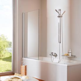 HÜPPE Design elegance Badewannenabtrennung 1-teilig ESG klar / silber hochglanz