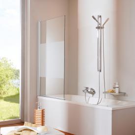 HÜPPE Design elegance Badewannenabtrennung 1-teilig ESG privatima mit ANTI-PLAQUE / silber matt