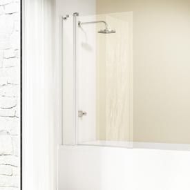 Hüppe Design elegance Badewannenabtrennung 1-teilig mit festem Segment ESG privatima mit ANTI-PLAQUE / silber matt