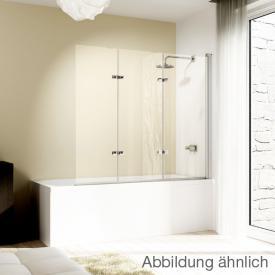 Hüppe Design elegance Badewannenabtrennung Schwingfalttür 3teilig ESG privatima mit ANTI-PLAQUE / chrom