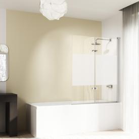 HÜPPE Design elegance Badewannenabtrennung Schwingfalttür ESG privatima mit ANTI-PLAQUE / silber matt