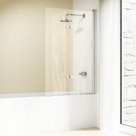 Hüppe Design elegance Badewannenabtrennung Schwingfalttür ESG klar mit ANTI-PLAQUE / silber matt