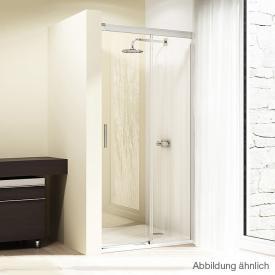 Hüppe Design elegance 4-Eck Gleittür 1teilig mit festem Segment ESG privatima ANTI-PLAQUE / chrom