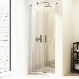 HÜPPE Design elegance Pendeltür in Nische ESG privatima mit ANTI-PLAQUE / silber matt