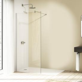 HÜPPE Design elegance Seitenwand alleinstehend ESG klar / silber matt
