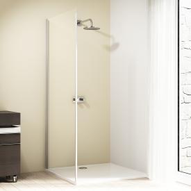 HÜPPE Design elegance Seitenwand für Gleittür 1-teilig mit festem Segment ESG klar mit ANTI-PLAQUE / silber hochglanz