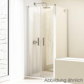 Hüppe Design elegance 4-Eck Seitenwand für Pendeltür ESG klar / silber matt