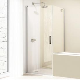 Hüppe Design elegance 4-Eck Seitenwand verkürzt für Schwingtür ESG klar / silber matt