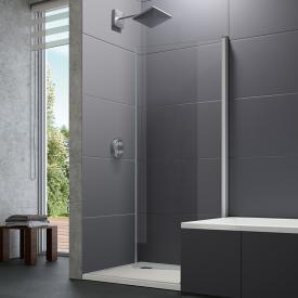 Hüppe Design pure 4-Eck Bewegliche Seitenwand für Schwingtür ESG klar / silber matt