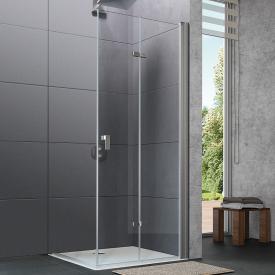 Hüppe Design pure 4-Eck Schwingfalttür ESG klar / silber matt