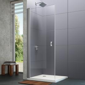Hüppe Design pure 4-Eck Schwingtür ESG klar / silber matt