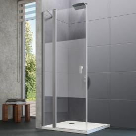 Hüppe Design pure 4-Eck Schwingtür mit festen Segmenten ESG privatima mit ANTI-PLAQUE / silber matt