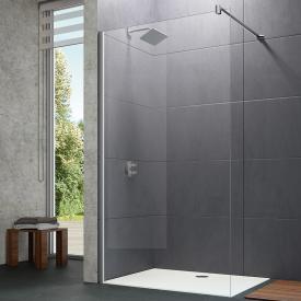 Hüppe Design pure 4-Eck Seitenwand alleinstehend ESG klar / silber matt
