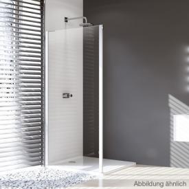 Hüppe Design pure 4-Eck Seitenwand für Gleittür 2-teilig mit festen Segmenten/Gleittür mit festem Segment und Nebenteil ESG klar / silber matt
