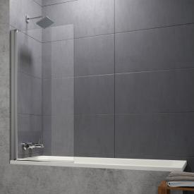 Hüppe Design pure Badewannenabtrennung 1teilig ESG klar ohne ANTI-PLAQUE / silber matt