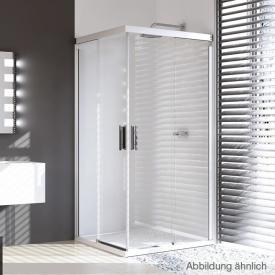 HÜPPE Design pure Gleittüreckeinstieg 2-teilig ESG klar / silber matt