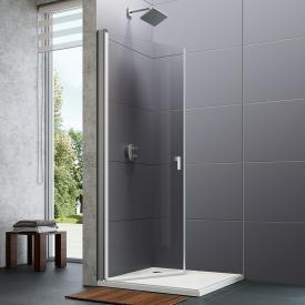HÜPPE Design pure Schwingtür mit Innen-/Außenöffnung für Kombination mit Seitenwand ESG klar mit ANTI-PLAQUE / silber matt