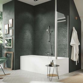 HÜPPE Design pure Seitenwand für Badewannenabtrennung ESG klar / silber matt