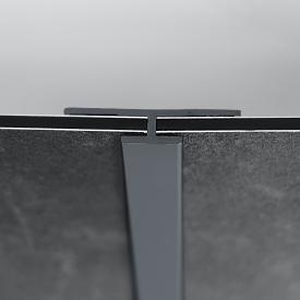 HÜPPE EasyStyle Verbindungsprofil basaltgrau