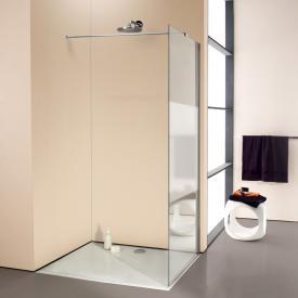 Hüppe Enjoy elegance teilgerahmte 4-Eck Seitenwand alleinstehend ESG klar mit ANTI-PLAQUE / chrom