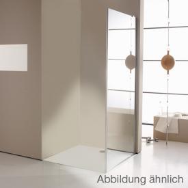 Hüppe Enjoy elegance teilgerahmte 4-Eck Seitenwand für Schwingtür mit festem Segment ESG privatima mit ANTI-PLAQUE / chrom