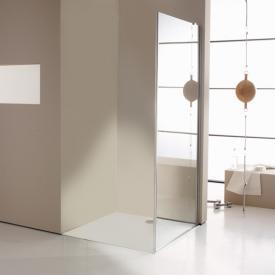 Hüppe Enjoy elegance teilgerahmte 4-Eck Seitenwand für Schwingtür mit festem Segment ESG klar mit ANTI-PLAQUE / chrom
