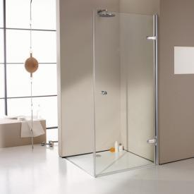 Hüppe Enjoy elegance teilgerahmte Schwingtür für Seitenwand ESG klar mit ANTI-PLAQUE / chrom