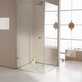 Hüppe Enjoy elegance rahmenlose Schwingtür mit Seitenwand ESG klar mit ANTI-PLAQUE / chrom