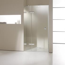 HÜPPE Enjoy elegance rahmenlose Schwingtür mit festem Segment in Nische ESG klar / silber hochglanz