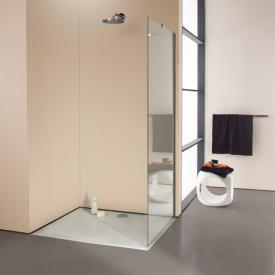 Hüppe Enjoy elegance teilgerahmte Seitenwand alleinstehend ESG klar mit ANTI-PLAQUE / chrom