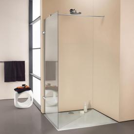 HÜPPE Enjoy elegance rahmenlose Seitenwand alleinstehend ESG klar / chrom, mit Querverstrebung