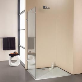 HÜPPE Enjoy elegance rahmenlose Seitenwand alleinstehend ESG klar / silber hochglanz, mit Stabilisationsbügel