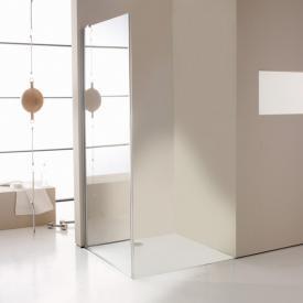 HÜPPE Enjoy elegance teilgerahmte Seitenwand für Pendeltür ESG klar mit ANTI-PLAQUE / silber hochglanz
