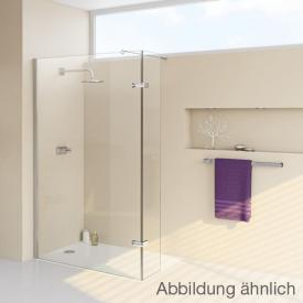Hüppe Enjoy elegance Walk-In Seitenwand mit beweglichem Segment ESG privatima mit ANTI-PLAQUE / chrom