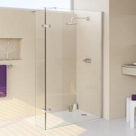 HÜPPE Enjoy elegance teilgerahmte Walk In Seitenwand mit beweglichem Segment ESG klar mit ANTI-PLAQUE / silber hochglanz